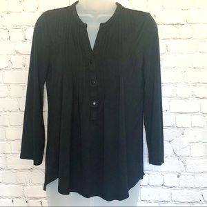 Cable & gauge black casual top small